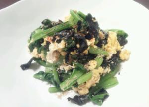 小松菜の海苔おひたし