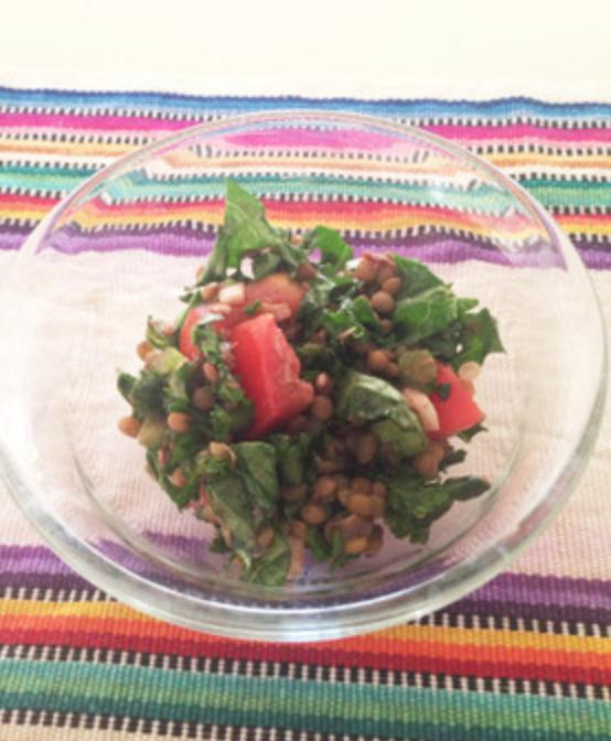 レンズ豆とケールのサラダ♡