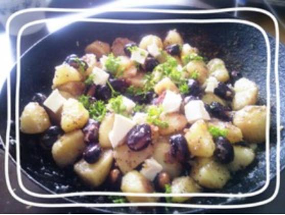 赤そら豆とポテトの焼き焼きサラダ